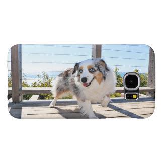 Capa Para Samsung Galaxy S6 Bennett - mini australiano - Rosie - praia de