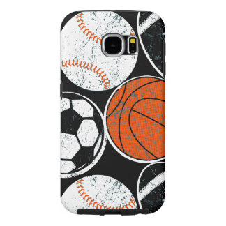 Capa Para Samsung Galaxy S6 Bolas do esporte de equipe