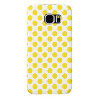 Capa Para Samsung Galaxy S6 Bolinhas amarelas