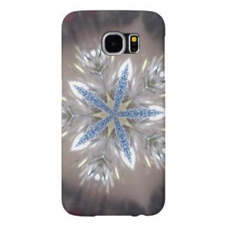Capa Para Samsung Galaxy S6 Branco azul brilhante da estrela festiva elegante