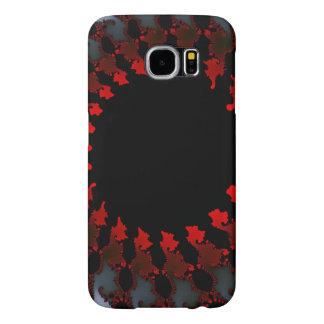 Capa Para Samsung Galaxy S6 Branco preto vermelho do Fractal