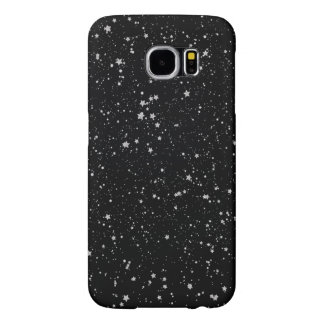Capa Para Samsung Galaxy S6 Brilho Stars2 - Preto de prata