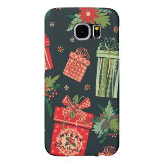 Capa Para Samsung Galaxy S6 Caixa christmassy verde