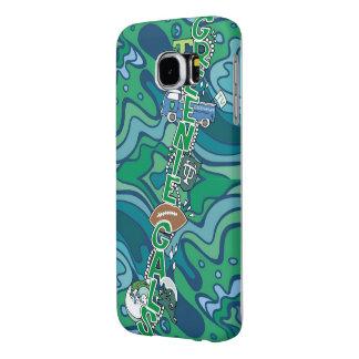 Capa Para Samsung Galaxy S6 Caixa da galáxia dos galões Samsung do Greenie