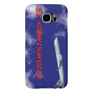 Capa Para Samsung Galaxy S6 Caixa da galáxia S6 de Flightsimboy 75 Samsung