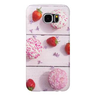 Capa Para Samsung Galaxy S6 Caixa da galáxia S6 de Samsung com cupcakes