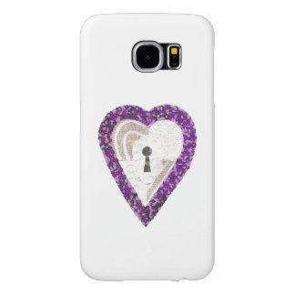 Capa Para Samsung Galaxy S6 Caixa da galáxia S6 de Samsung do coração do