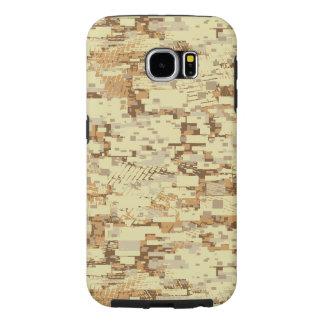 Capa Para Samsung Galaxy S6 Camuflagem do deserto do bloco