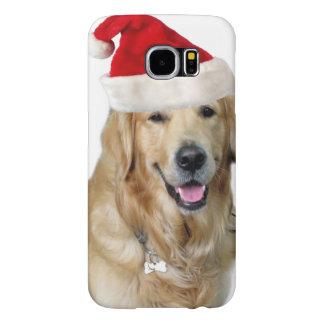 Capa Para Samsung Galaxy S6 Cão-animal de estimação do cão-papai noel de claus
