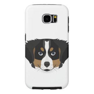 Capa Para Samsung Galaxy S6 Cão de montanha de Bernese da ilustração