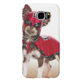 Capa Para Samsung Galaxy S6 Cão do libre de Lucha, chihuahua engraçada,