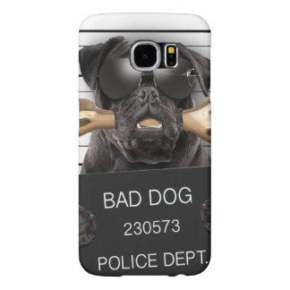 Capa Para Samsung Galaxy S6 Cão do Mugshot, pug engraçado, pug