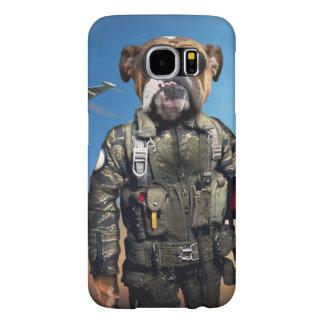 Capa Para Samsung Galaxy S6 Cão piloto, buldogue engraçado, buldogue