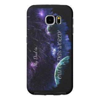 Capa Para Samsung Galaxy S6 Caso do espaço do pai