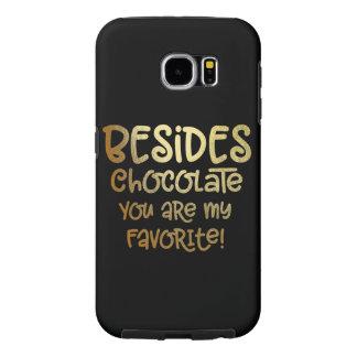 """Capa Para Samsung Galaxy S6 Caso do telemóvel do chocolate da galáxia S """"além"""""""
