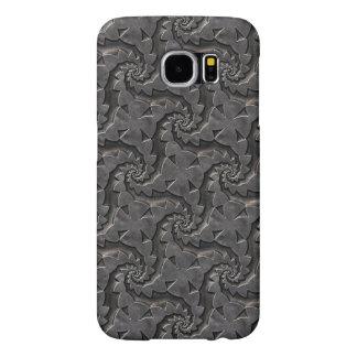 Capa Para Samsung Galaxy S6 Caso floral metálico de prata do teste padrão