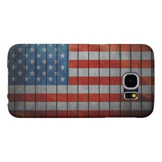 Capa Para Samsung Galaxy S6 Cerca pintada da bandeira americana