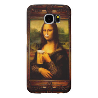 Capa Para Samsung Galaxy S6 Cerveja de Mona lisa - de Mona lisa - lisa-cerveja