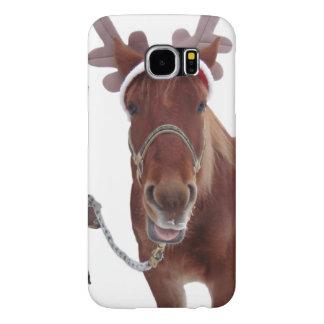 Capa Para Samsung Galaxy S6 Cervos do cavalo - cavalo do Natal - cavalo