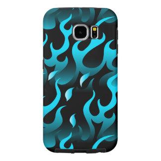 Capa Para Samsung Galaxy S6 Chamas azuis quentes