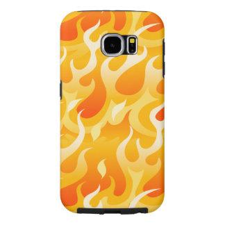 Capa Para Samsung Galaxy S6 Chamas quentes