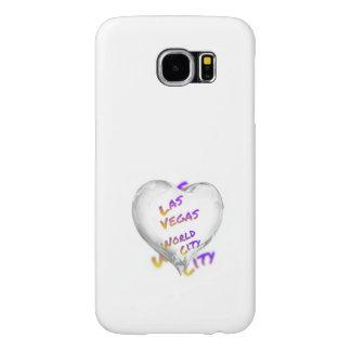 Capa Para Samsung Galaxy S6 Cidade do mundo de Las Vegas, coração