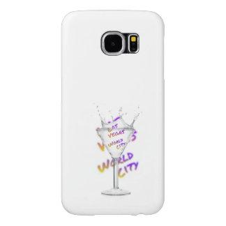 Capa Para Samsung Galaxy S6 Cidade do mundo de Las Vegas, vidro de água