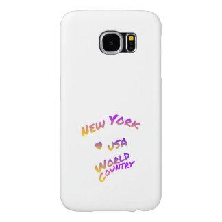 Capa Para Samsung Galaxy S6 Cidade do mundo de New York, arte colorida do