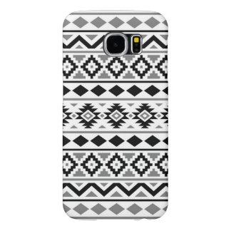 Capa Para Samsung Galaxy S6 Cinzas brancas pretas do teste padrão III asteca