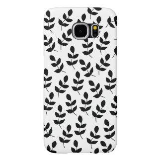 Capa Para Samsung Galaxy S6 Cobrir preto e branco do telefone da galáxia de