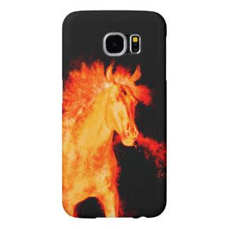 Capa Para Samsung Galaxy S6 coleção do cavalo. fogo
