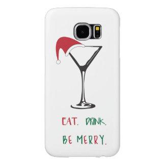 Capa Para Samsung Galaxy S6 Coma. Bebida. Seja alegre. Caso do telemóvel do