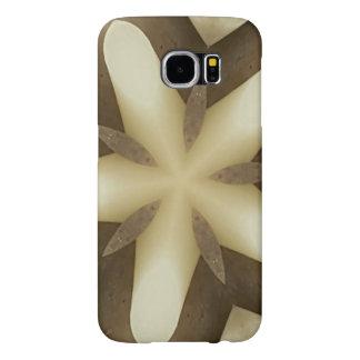 Capa Para Samsung Galaxy S6 Cores rústicas brancas do design de Brown da