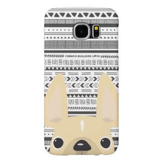 Capa Para Samsung Galaxy S6 Creme do caso de Geo do amor do buldogue francês