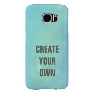 Capa Para Samsung Galaxy S6 Criar sua própria pintura da aguarela de turquesa