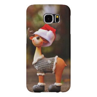 Capa Para Samsung Galaxy S6 Decorações da rena - rena do Natal