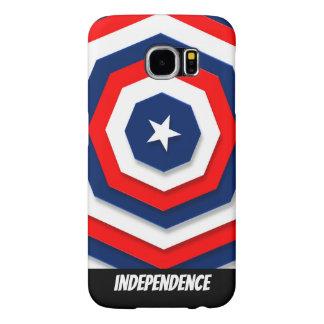 Capa Para Samsung Galaxy S6 Design da bandeira de América