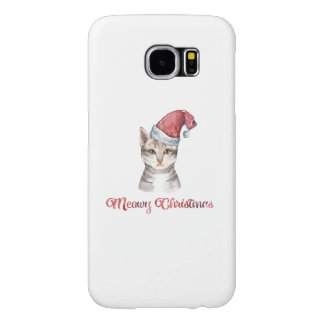 Capa Para Samsung Galaxy S6 Design do Natal de Meowy para amantes do gato