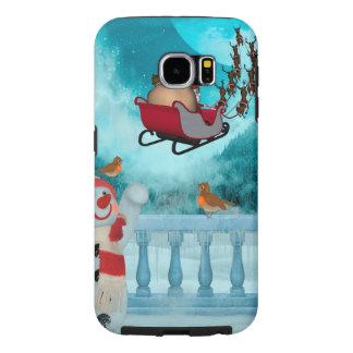 Capa Para Samsung Galaxy S6 Design do Natal, Papai Noel