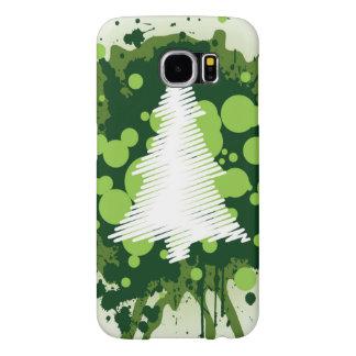 Capa Para Samsung Galaxy S6 Design Splattered da árvore de Natal da pintura