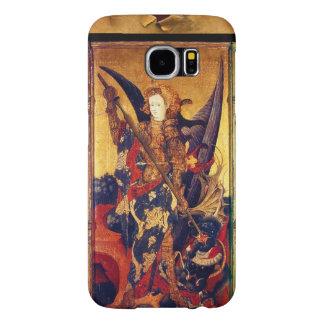 Capa Para Samsung Galaxy S6 Diabo vencendo de St Michael como o cavaleiro