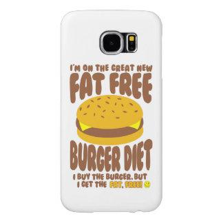 Capa Para Samsung Galaxy S6 Dieta livre de gordura do hamburguer