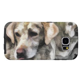 Capa Para Samsung Galaxy S6 divertimento dos labradors na lama