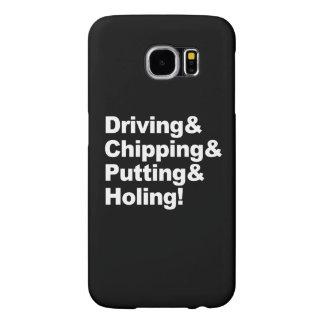 Capa Para Samsung Galaxy S6 Driving&Chipping&Putting&Holing (branco)