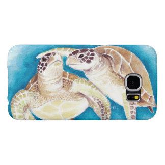 Capa Para Samsung Galaxy S6 Duas tartarugas de mar