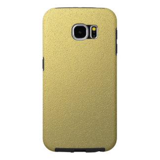 Capa Para Samsung Galaxy S6 Efeito metálico da folha do ouro