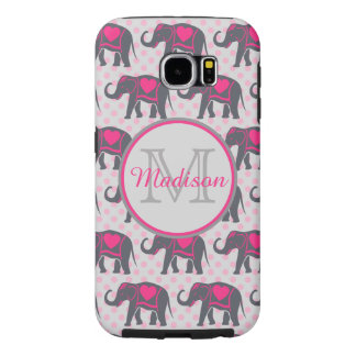 Capa Para Samsung Galaxy S6 Elefantes cor-de-rosa quentes cinzentos em