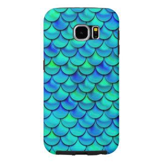 Capa Para Samsung Galaxy S6 Escalas do azul do Aqua de Falln
