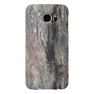 Capa Para Samsung Galaxy S6 Escuro e claro - textura de mármore cinzenta