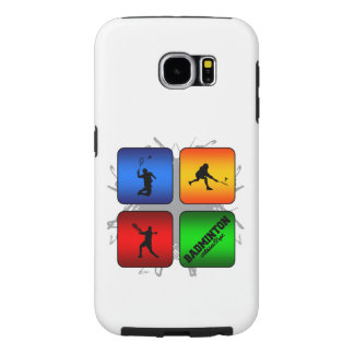 Capa Para Samsung Galaxy S6 Estilo urbano do Badminton surpreendente